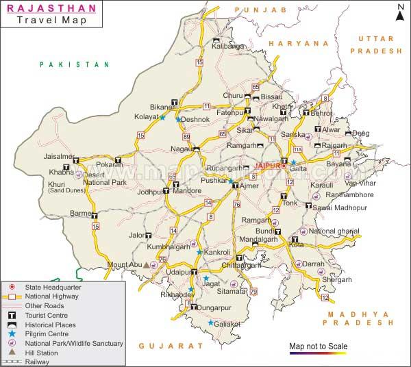 Rajasthan Travel Maps, Maps Of Rajasthan, Pushkar Maps